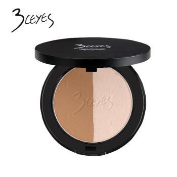 3ceyes双色高光修容粉呈现立体式脸型粉饼