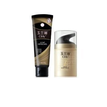 玉兰油多效修护防晒霜50g+玉兰油细滑活肤洁面乳100g