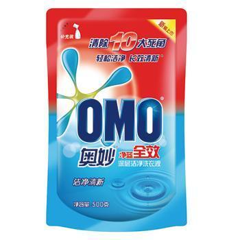 奥妙(OMO)洗衣液净蓝全效深层洁净500g