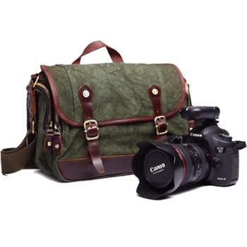 七色棉单肩摄影包单肩斜挎单反相机包尼康佳能帆布包数码包8619