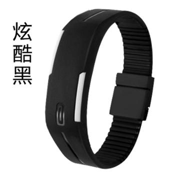 梦达菲时尚个性韩版潮流LED手环儿童学生男女情侣果冻电子表腕表