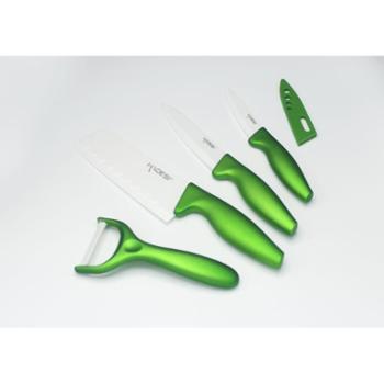 银海瓷业绿色陶瓷餐刀五件套 绿色健康陶瓷刀
