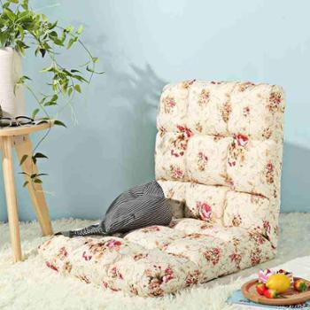 木优日式懒人沙发单人可折叠榻榻米小沙发个性宿舍床上椅子