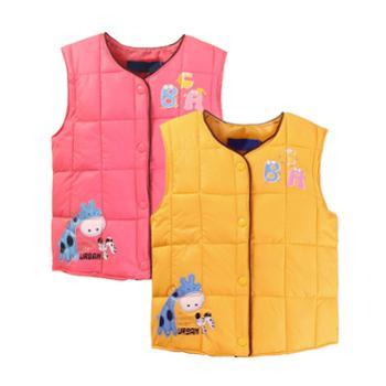 2016秋冬新款童装冬季儿童羽绒马甲男童女童马夹上衣宝宝保暖外套