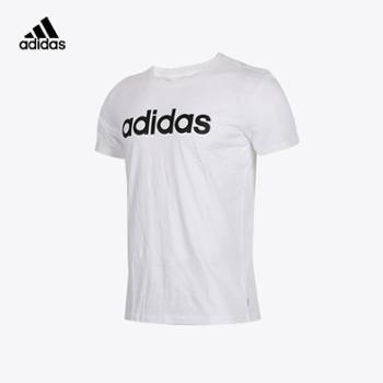 Adidas阿迪达斯2018情侣款圆领运动休闲T恤
