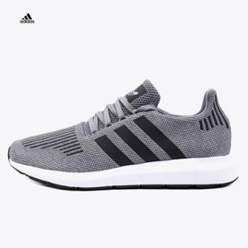 Adidas阿迪达斯三叶草男鞋2018夏季SwiftRun轻便透气运动休闲鞋CQ2115