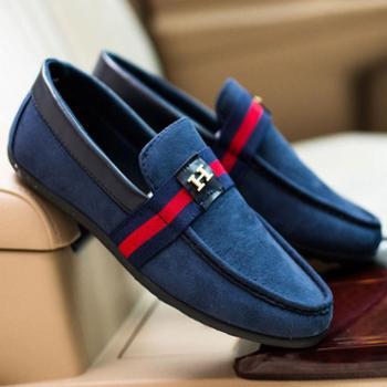 韩版豆豆鞋透气男鞋时尚男士套脚鞋驾车鞋男单鞋