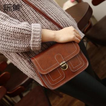 新款女包复古邮差包日韩版休闲单肩包学生方包斜挎包小包