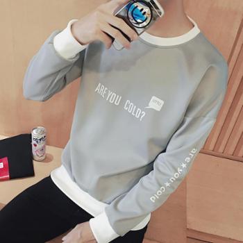 2017新款春装t恤男长袖男士打底衫薄款春秋潮小衫韩版青少年卫衣