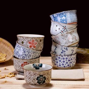 景德镇日式釉下彩陶瓷碗餐具套装小米饭碗饭碗家用小汤碗