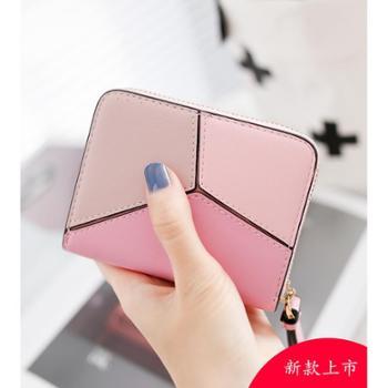 梨花娃娃卡包女式韩国可爱个性迷你小巧大容量卡片包零钱包一体包