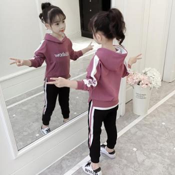 女童春装套装新款5儿童运动韩版潮衣6大童装洋气时髦7岁8