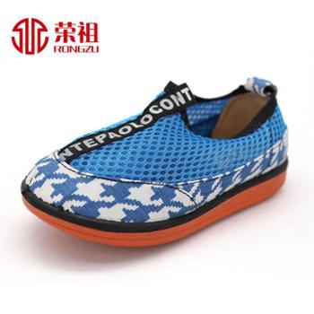荣祖品牌专卖老北京布鞋夏季新款防滑时尚小孩鞋软底宝宝鞋
