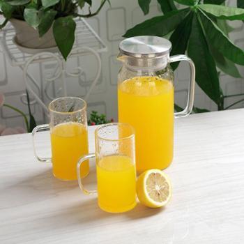 厂家直销玻璃耐热大容量家用凉水冷水壶赠品果汁礼品家居套组水壶