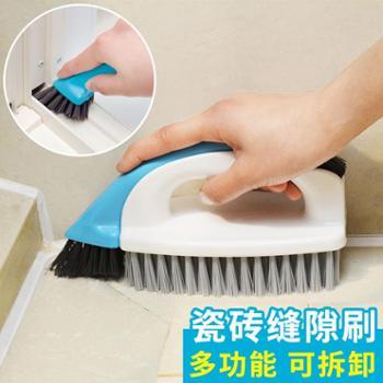 日本LEC家用清洁刷厨房浴室硬毛缝隙刷墙壁瓷砖卫生间洗地板刷子