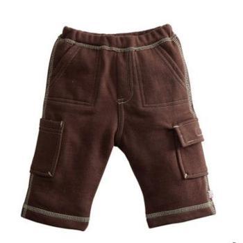 美国babysoy儿童长裤秋冬季婴儿裤子男童运动裤男女宝宝加厚长裤