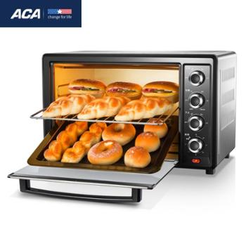 ACA/北美电器电烤箱家用烘焙多功能上下独立控温32L高配