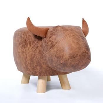 创意小牛换鞋凳卡通穿鞋凳家用试鞋凳脚凳矮凳小凳子沙发凳子