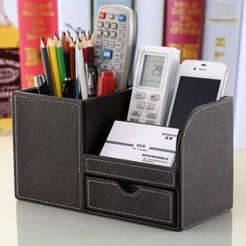 桌面文具名片收纳盒多功能笔筒办公室创意时尚学生韩国可爱小清新