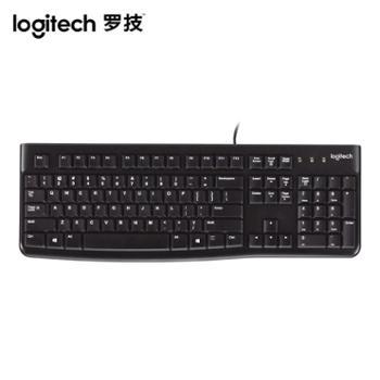 罗技K120有线薄膜键盘笔记本台式电脑办公家用游戏USB通用防水舒适耐用MK120有线键鼠套装 加鼠标垫