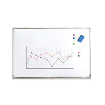 挂式双面磁性白板办公书写壁挂单面大白板