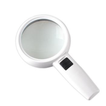 致旗德国工艺30倍手持放大镜带LED灯高清高倍