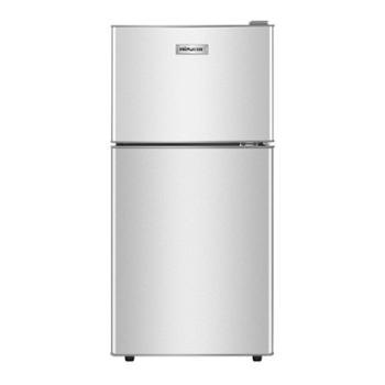 日普118升双门小型电冰箱冷藏冷冻宿舍租房二人世界家用节能静音