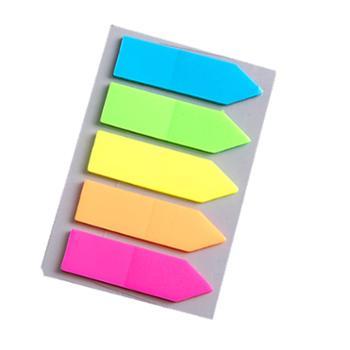 荧光膜便利贴标签贴学生用标记贴荧光贴箭头8包装