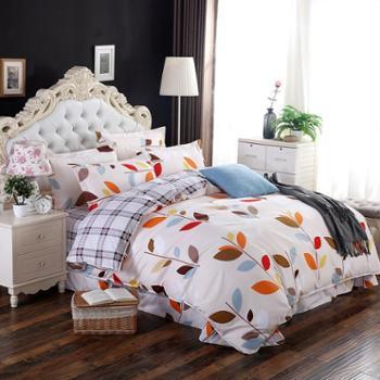 正品全棉四件套单双人四件套全棉棉春季新款床单被套四件套包邮
