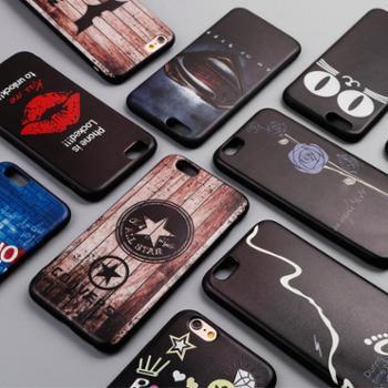 宝哲 苹果7/6s plus彩绘手机壳x9卡通vivox9全包创意oppo r9s外壳