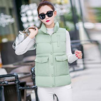 百旅Bailv棉马甲秋冬新款韩版修身常规款马甲加厚外套