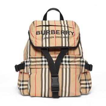 Burberry博柏利 徽标印花标志性条纹尼龙双肩包背包8014751