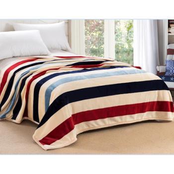 芮奇法莱绒毛毯空调毯1.2米