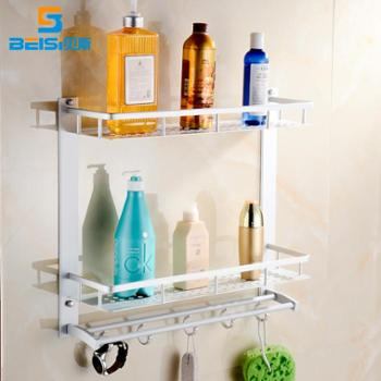 贝斯卫浴新品太空铝置物架卫生间3层置物架浴室壁挂层架卫浴挂件1404