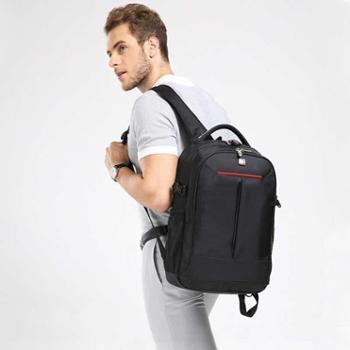 双肩包男士休闲大中学生笔记本电脑书包大容量旅行背包