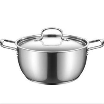 美的汤锅 电磁炉通用TG24S5 304不锈钢锅具家用加厚复合底小火锅