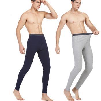 男士保暖裤全棉打底裤薄款纯色秋裤纯色男士内衣单裤 宸