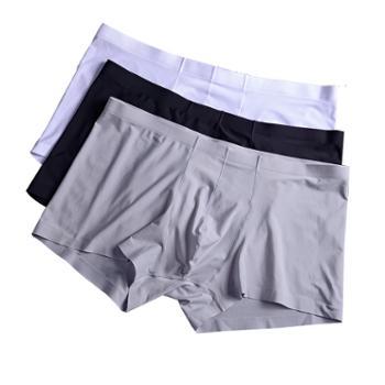 【买5送1,单条价】热压无痕工艺男士冰丝内裤平角裤