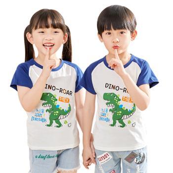 男女童印花短袖T恤纯棉卡通上衣小童夏季儿童装