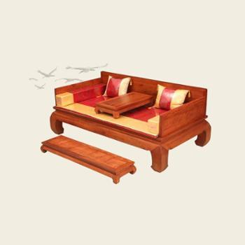 红木家具中式实木床罗汉床非洲花梨木实木罗汉床