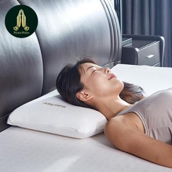 塔拉蒂安(TharaThian)枕头 枕头套装 泰国天然乳胶枕头枕芯 96.8乳胶含量 曲面型面包枕
