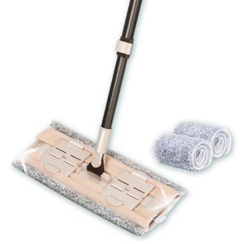 茶花平板拖把家用平拖夹固式木地板一拖净懒人尘推墩布平板拖布