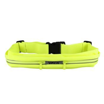 viken弹性防水运动腰包荧光绿