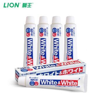 Lion/狮王日本原装进口WHITEWHITE美白大白牙膏150g*4支装