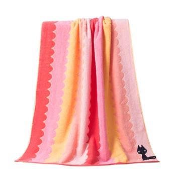 洁丽雅卡通浴巾一条