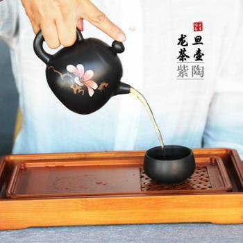 云南建水紫陶茶壶龙旦壶原矿紫泥全手工功夫茶具套装泡茶壶