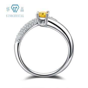 华晶实验室培育钻石-18K金钻石戒指