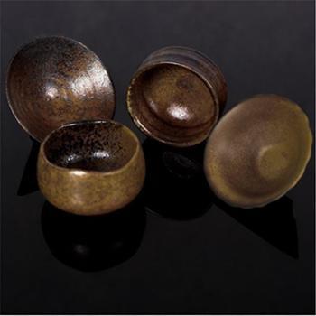 礼遇 柴烧杯 天然灰釉柴烧茶器套装 功夫茶具