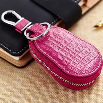 时尚葫芦型钥匙包真皮汽车遥控器锁匙包通用车型折叠