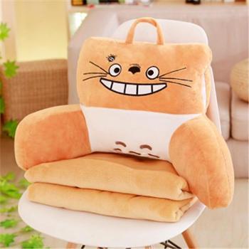 卡通可拆洗腰靠抱枕毯办公室午睡抱枕床头沙发靠垫毛绒玩具大靠枕
